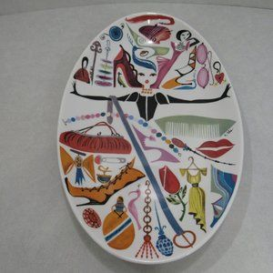 Oval Serving Platter Uptown Girl Fashion Shoes